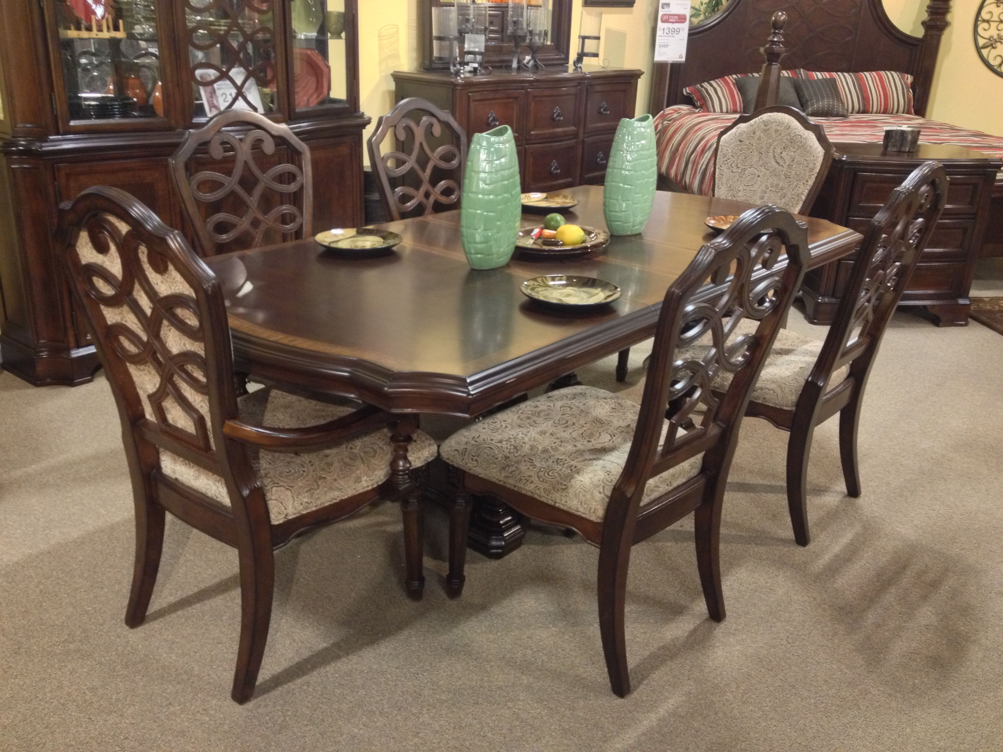 Flemingsburg 7 Piece Dining Room Set Ashley Furniture In