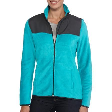 Danskin Now Women's Sport Fleece Jacket | Teal, Fleece jackets and ...