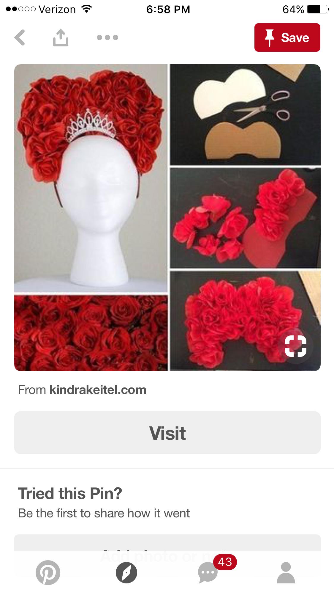 Vincha de la Reina Roja | Materiales para estimular em ...