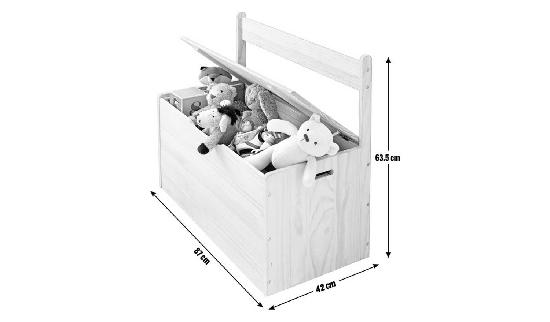 Buy Argos Home Scandinavia White Extra Large Toy Box Toy Boxes Large Toy Box Argos Home Kids Toy Boxes