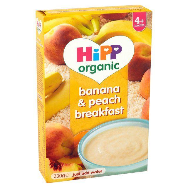 Hipp Organic Banana Peach Breakfast 230g Uk Formuland Peach Banana Hipp Organic Organic Breakfast