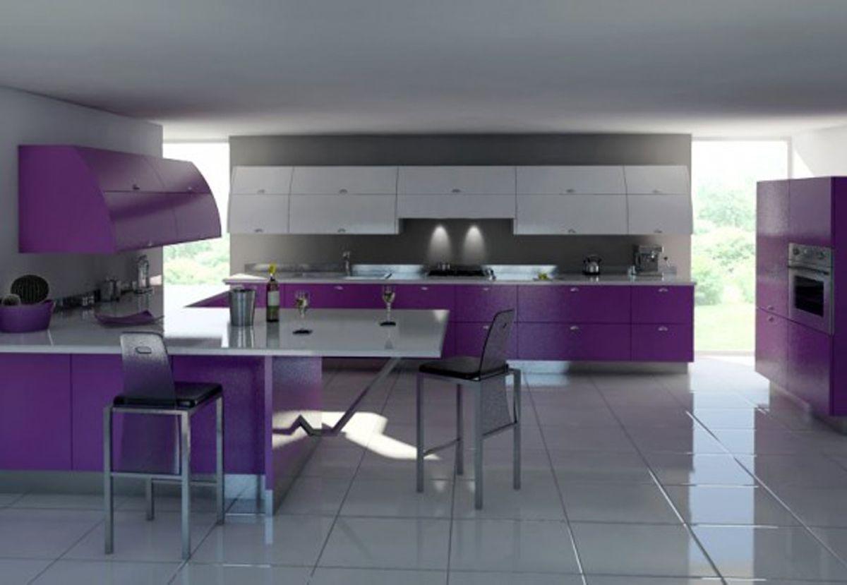 best 12 stylish purple kitchen design inspirations : engaging