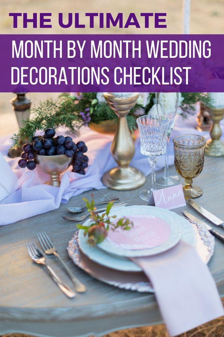 Wedding decorations checklist  Wedding Decorations on a Budget A Free Printable Checklist  Rustic
