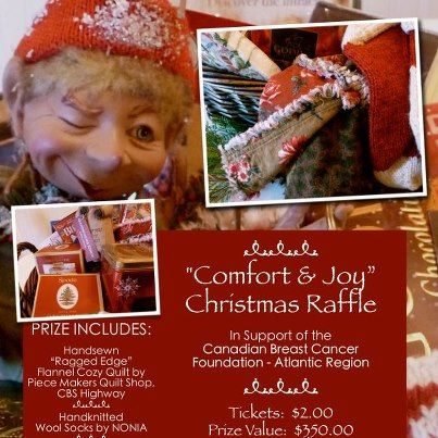 "Poster for ""Comfort and Joy"" basket raffle"