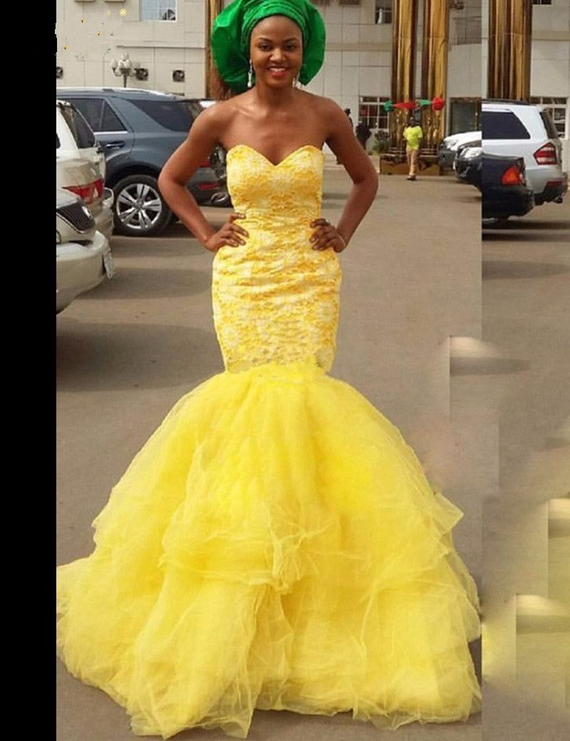 Prom Dresses Yellow African