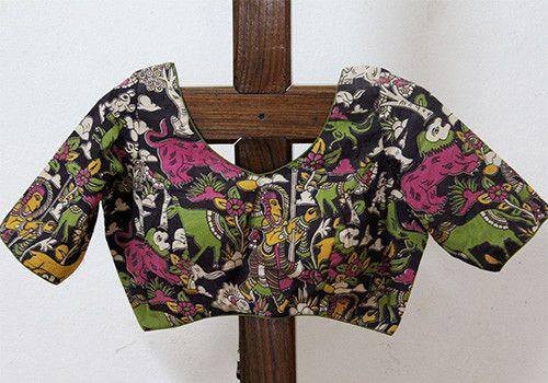 bb8b0fc25a Kalamkari Blouse Design 20 – Desically Ethnic   Textiles   Blouse ...