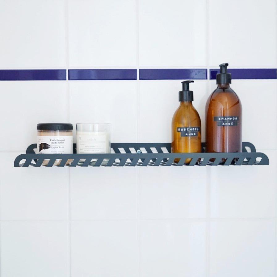 Badezimmer Regal Anthrazit