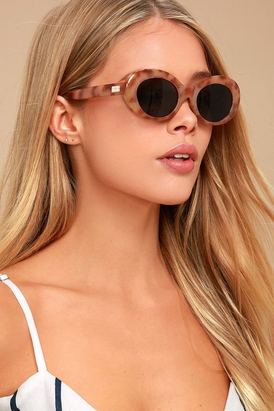 008b3a8e47 The Crap Eyewear The Love Tempo Tortoise Sunglasses will bring you to a  higher love! Brown and tan tortoise frames have a chunky oval shape and  contrasting ...