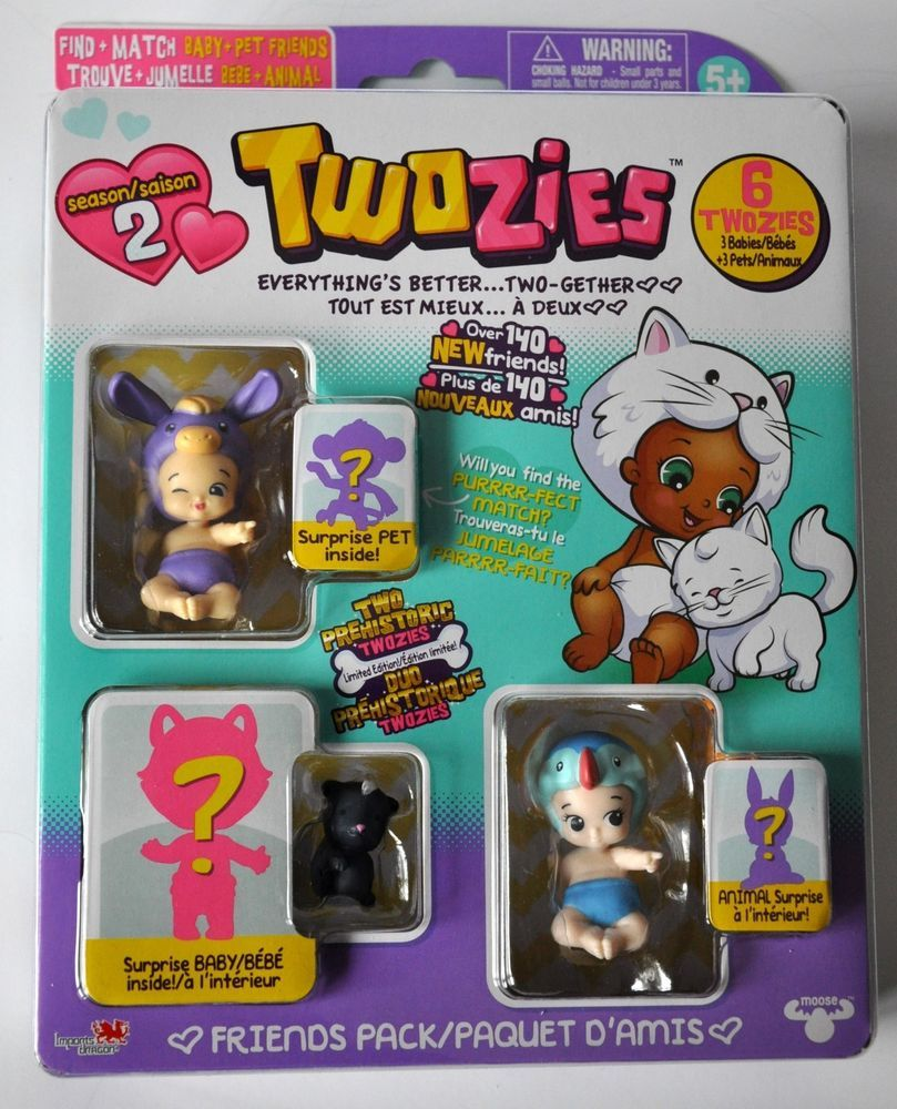 Twozies Season Twogether 6 Pack 3 Babies and 3 Pet Friends CHARACTERS VARY