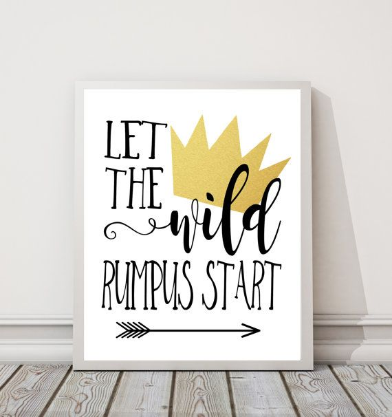 graphic relating to Let the Wild Rumpus Start Printable called Allow for The Wild Rumpus Begin 8\