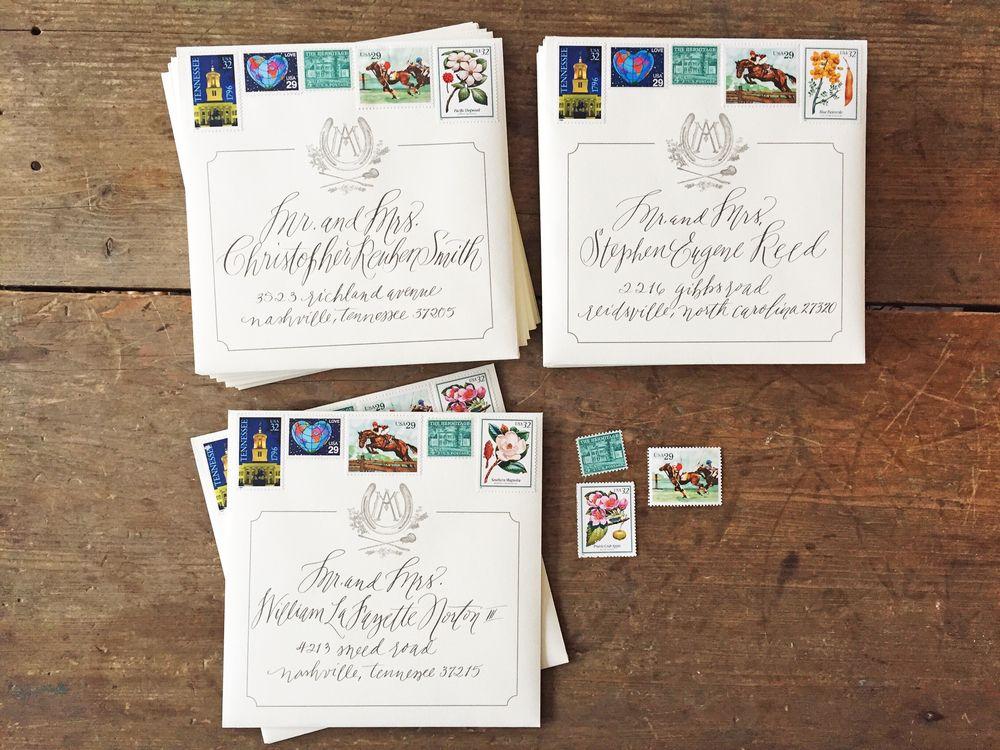 Custom Wedding Design Vintage Stamps