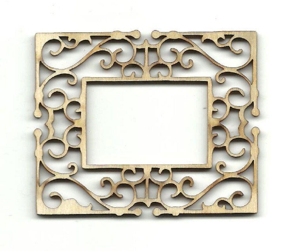 Decorative Frame Laser Cut Unfinished Wood Shapes Variety of Sizes ...