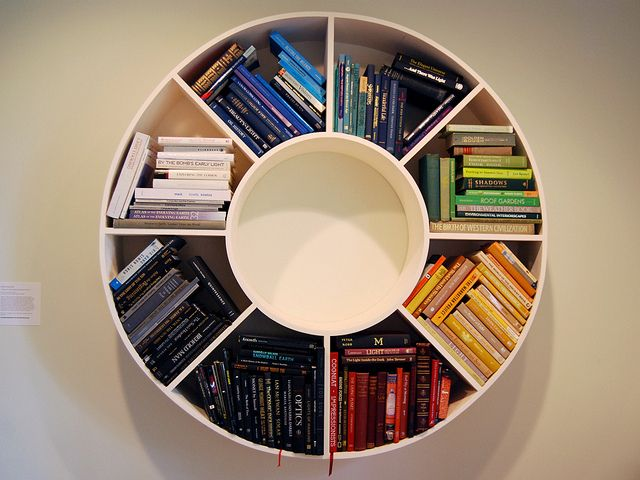 Circular Bookshelf Unique Bookshelves Cool Bookshelves