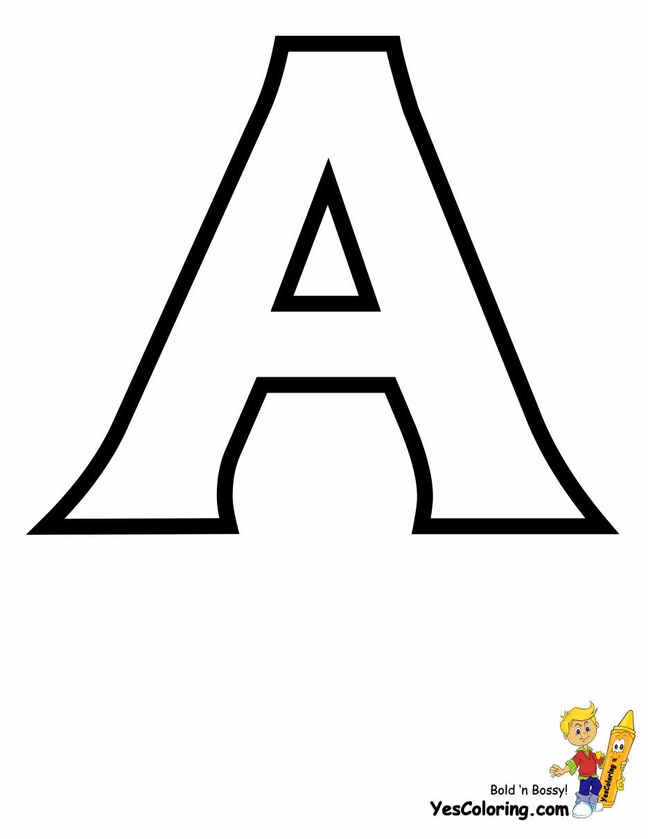 Print Out This Standard Letter Printable Coloring Page Of A Sho Nuff Tell Letter A Coloring Pages Free Printable Alphabet Letters Abc Coloring Pages
