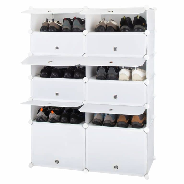 Honey Home Plastic Shoe Cabinet With Doors Diy Storage Organiser Shoe Rack Plastic Shoe Rack
