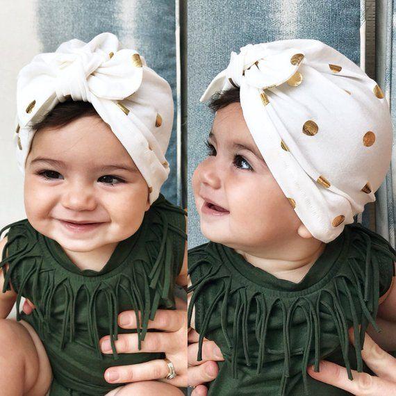 3caaa217450 Gold Polka Dots   baby turban hat baby turban