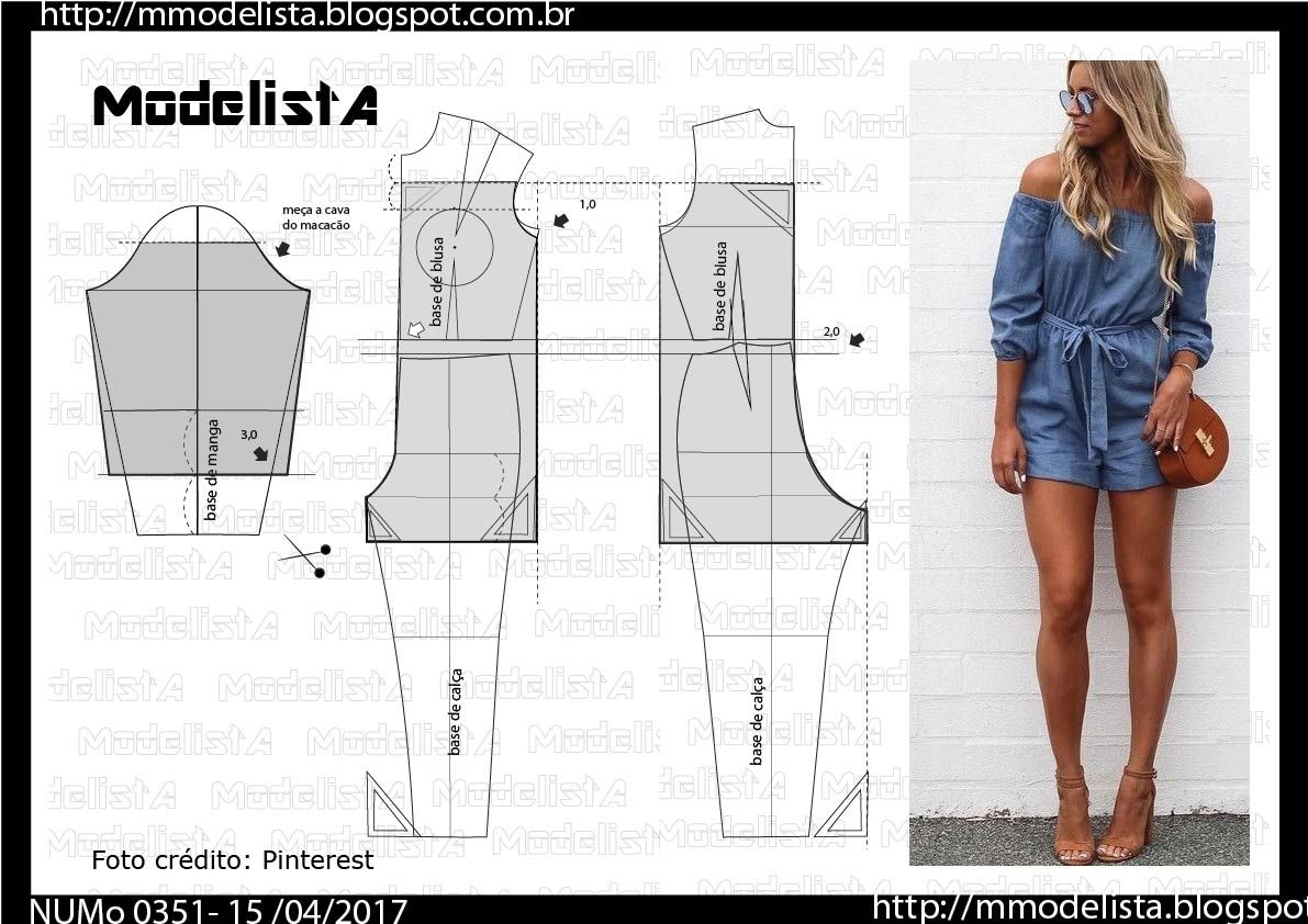 costura #moldes | costura | Pinterest | Sewing, Jumpsuit pattern and ...