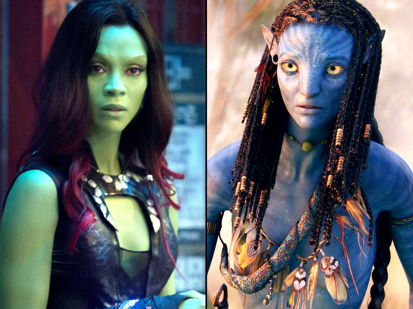 Zoe Saldana Goes Green For Guardians It Was Crazy Zoe