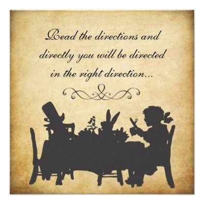 Vintage Alice in Wonderland Tea Party Birthday Invitation   Zazzle.com