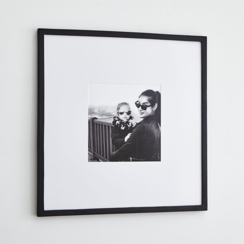 Icon 11x11 Black Picture Frame Reviews Crate And Barrel Frames On Wall Black Walls Wall Frames