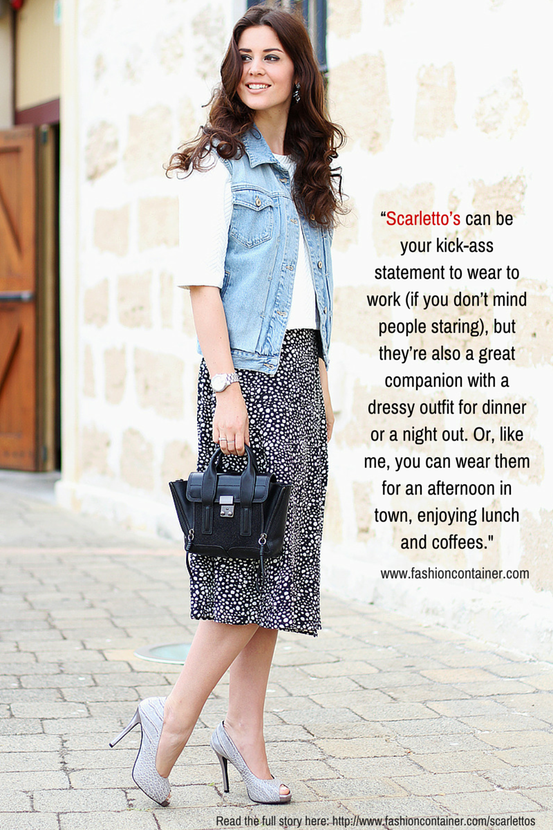 Famous fashion blogger - When World Famous Fashion Blogger Malena Permentie Chose To Review Our Scarletto S Shoes We