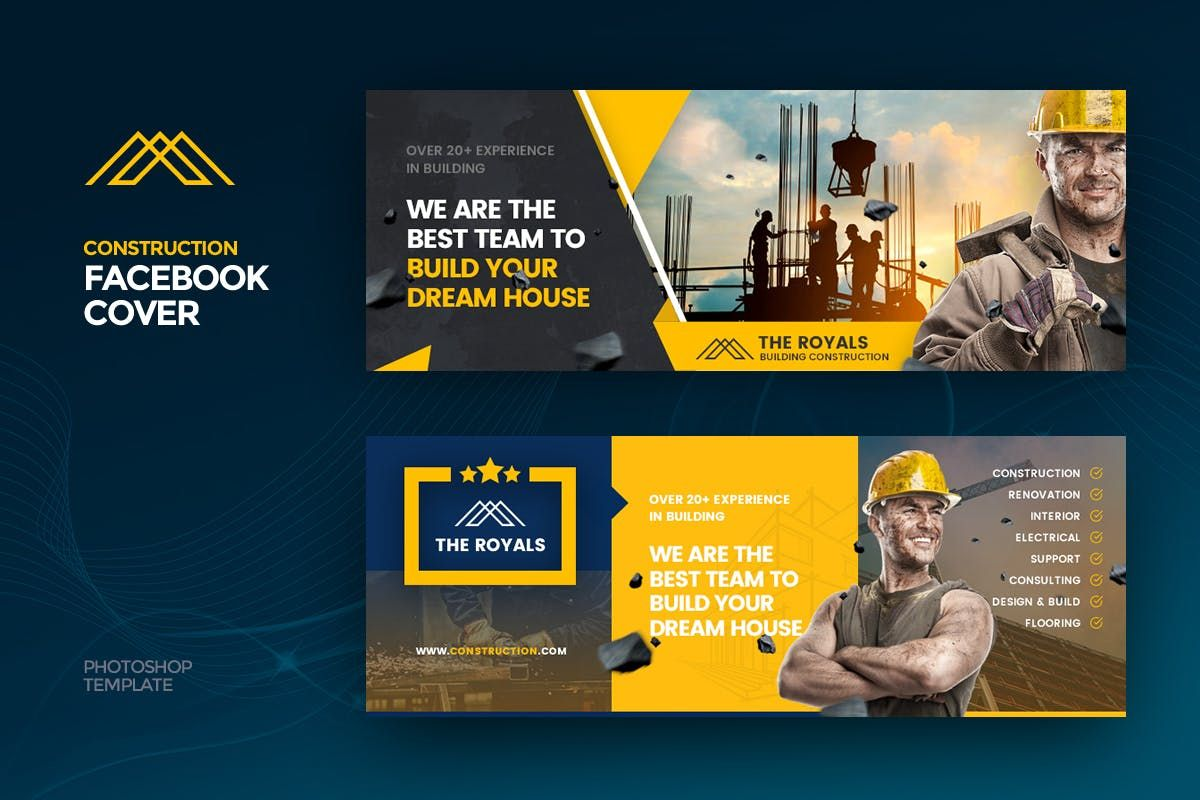 Theroyals Construction Facebook Cover Template By Last40 On