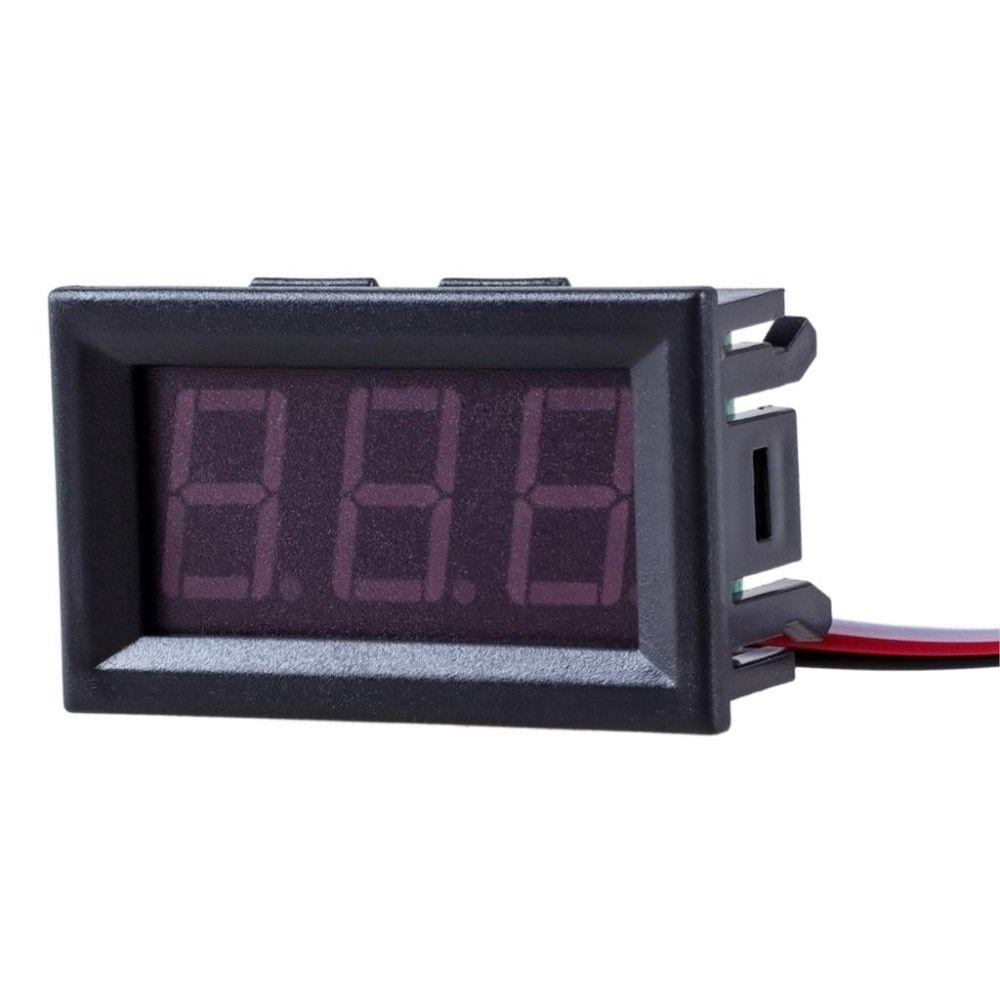 1pc Diy Mini Voltmeter Tester Digital Voltage Test Battery Dc 0 30v Wiring In Car Buy 100v 3 Wires Red Green Blue For Auto Led Display Gauge