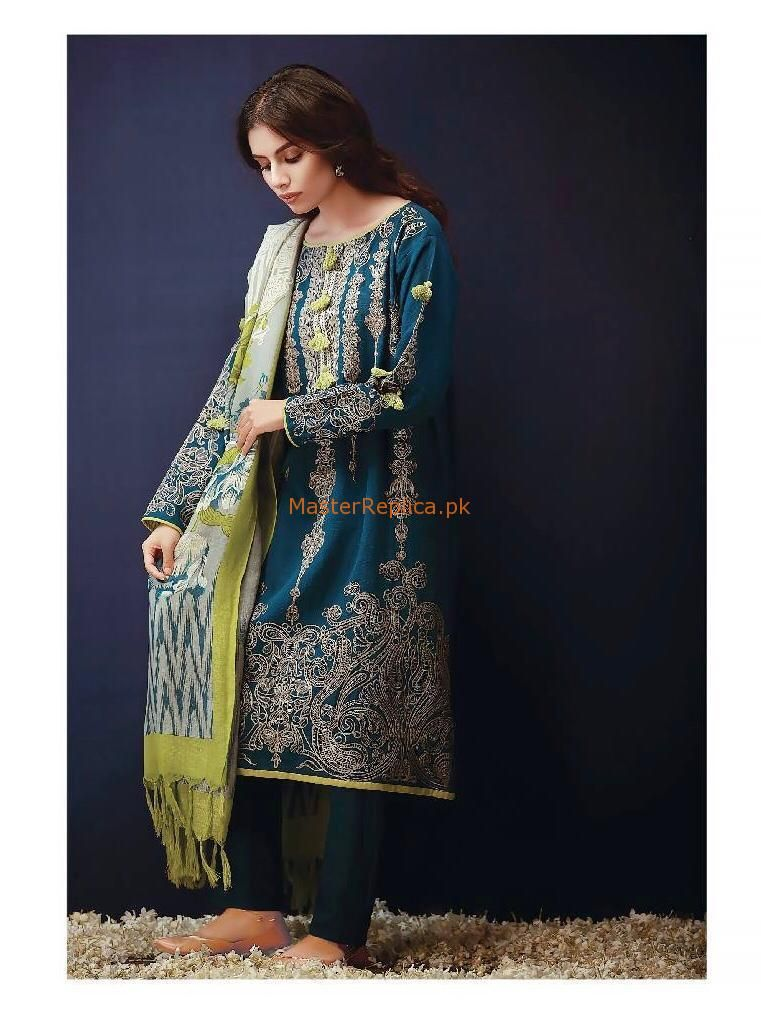 963dc3b06b KHAADI Latest Embroidered Winter Khaddar Collection Replica in 2019 ...