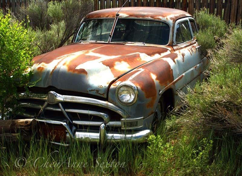 rockabilly girl garage old car hledat googlem - Rusty Old Cars For Sale