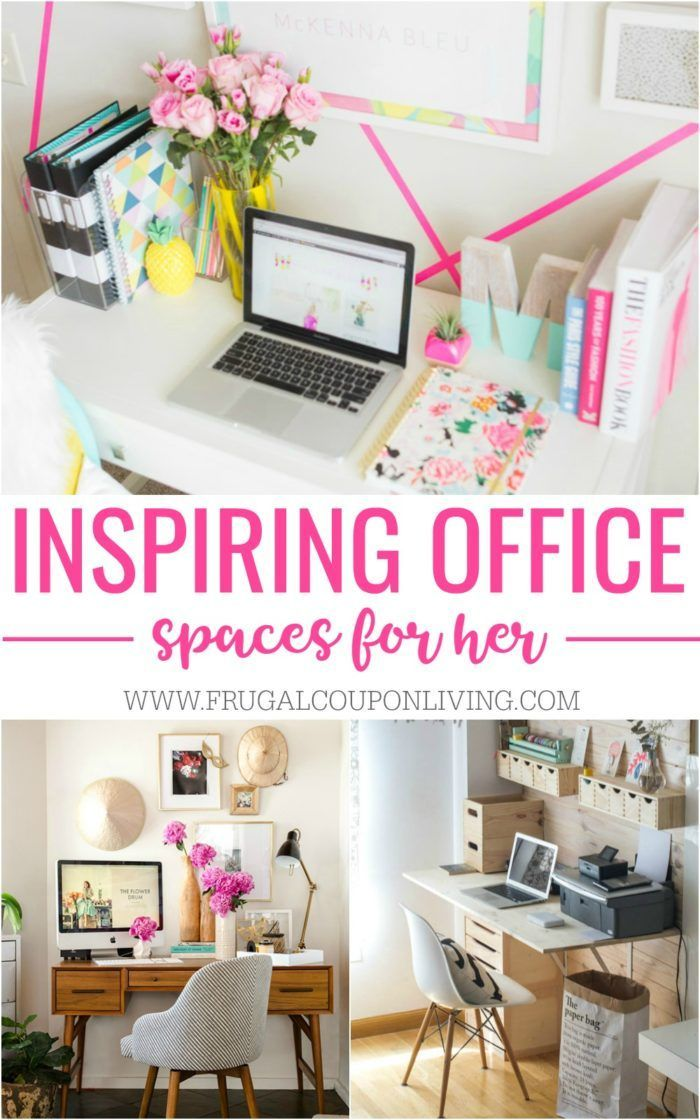 Inspiring Home Office Decor Ideas for Her | Office organisation ...