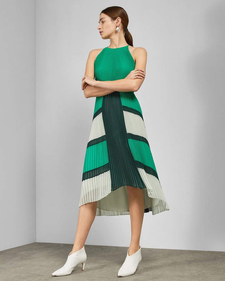 300c5e32b Ted Baker NELLINA Dip hem pleated dress in 2019