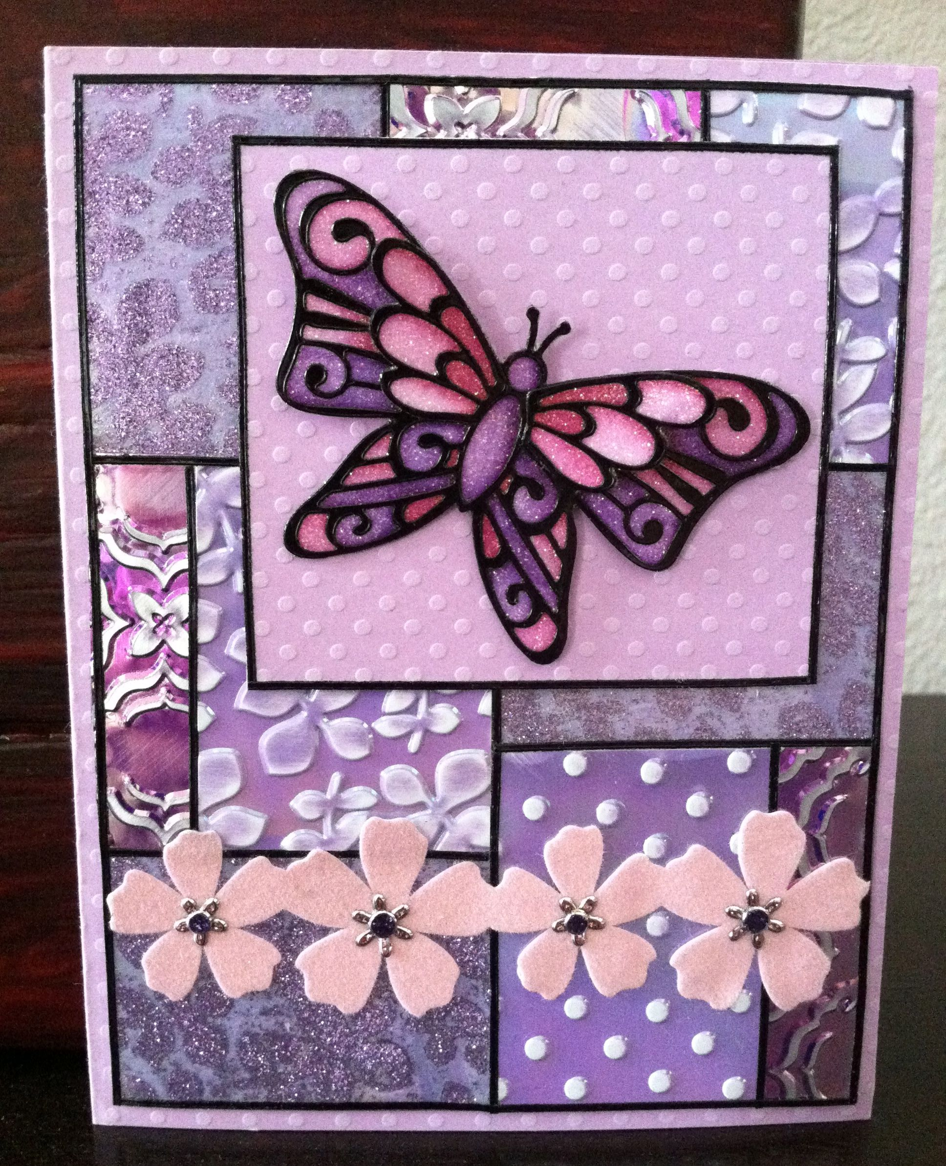 Sticky paper for crafts - This Card Is A Combination Of All The Elizabeth Craft Designs Products Peel Off Stickers