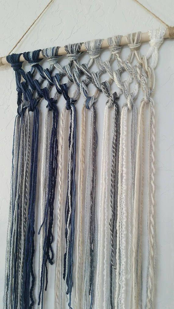 Tapestry, Macrame, Yarn Tapestry, Yarn Wall Hanging, Wall ...