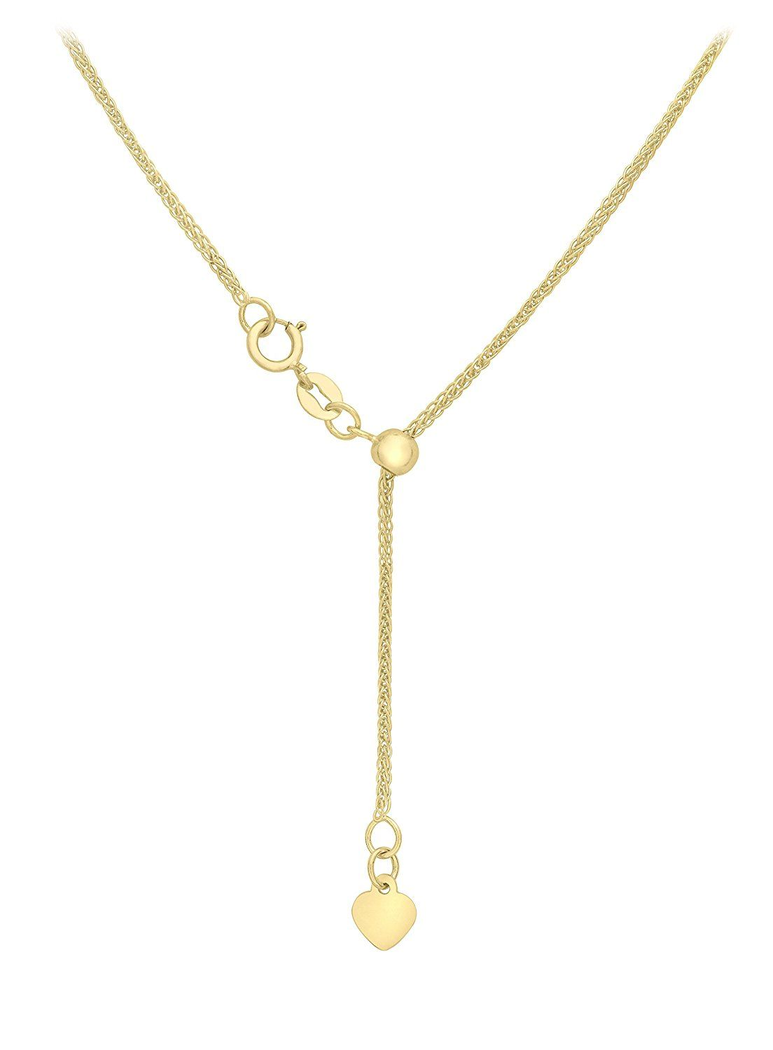 Carissima Gold Women's 18 ct Gold 1 mm Spiga Chain Necklace YrnLSPX