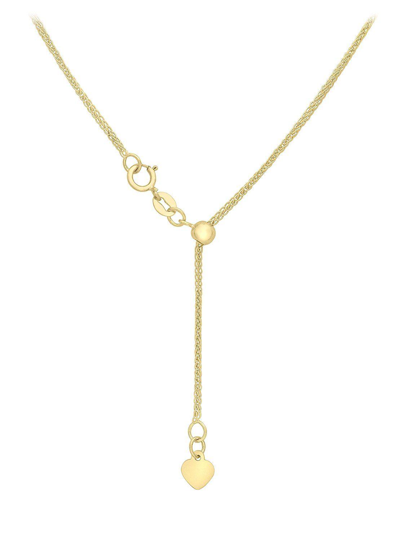 Carissima Gold Women's 18 ct Gold 1 mm Spiga Chain Necklace NDqvU