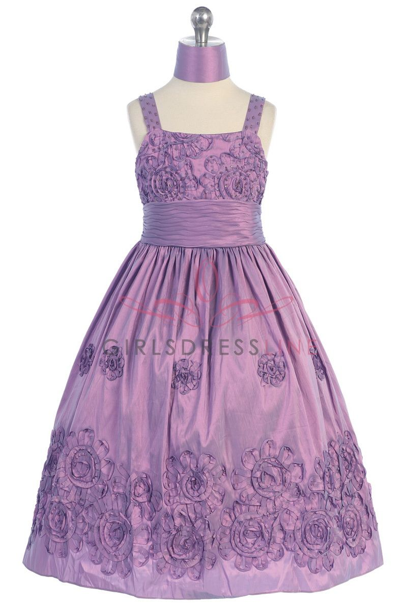 pretty purple flower girl dress | vistidos 12 | Pinterest | Vestidos ...