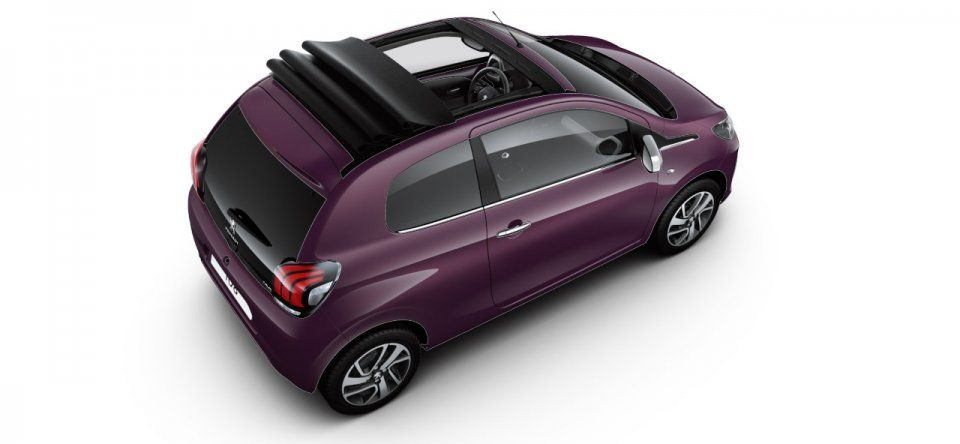Photo Peugeot 108 I Top Cabrio Red Purple Photos Peugeot Red