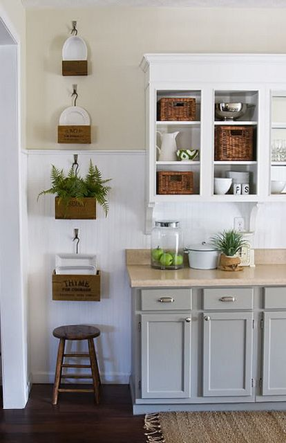Adding wood trim to kitchen cabinets | details in white | Pinterest on small cabin decorating ideas, small cottage style kitchens, small cottage design ideas, small white cottage kitchens, small bungalow kitchens, small kitchen design ideas, small country kitchens,