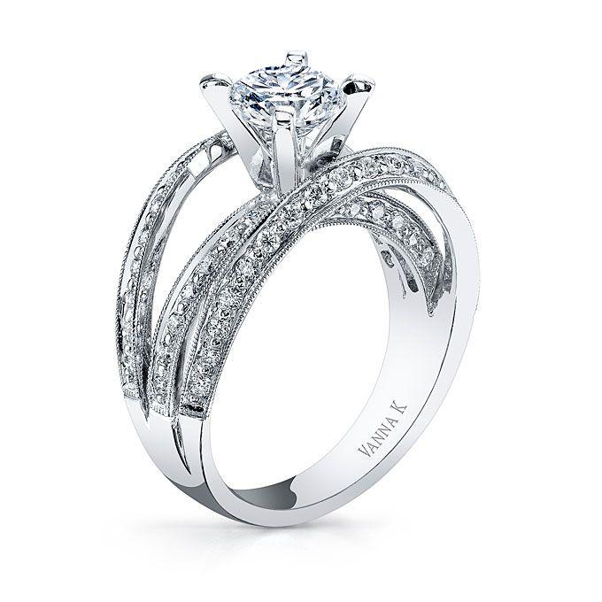 Brides Vanna K Style 18ro4194dcz 18 Karat Gold 1 Carat Round Center 2