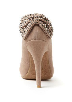 BAMBOO Captivate-05 rhinestone bow shoes