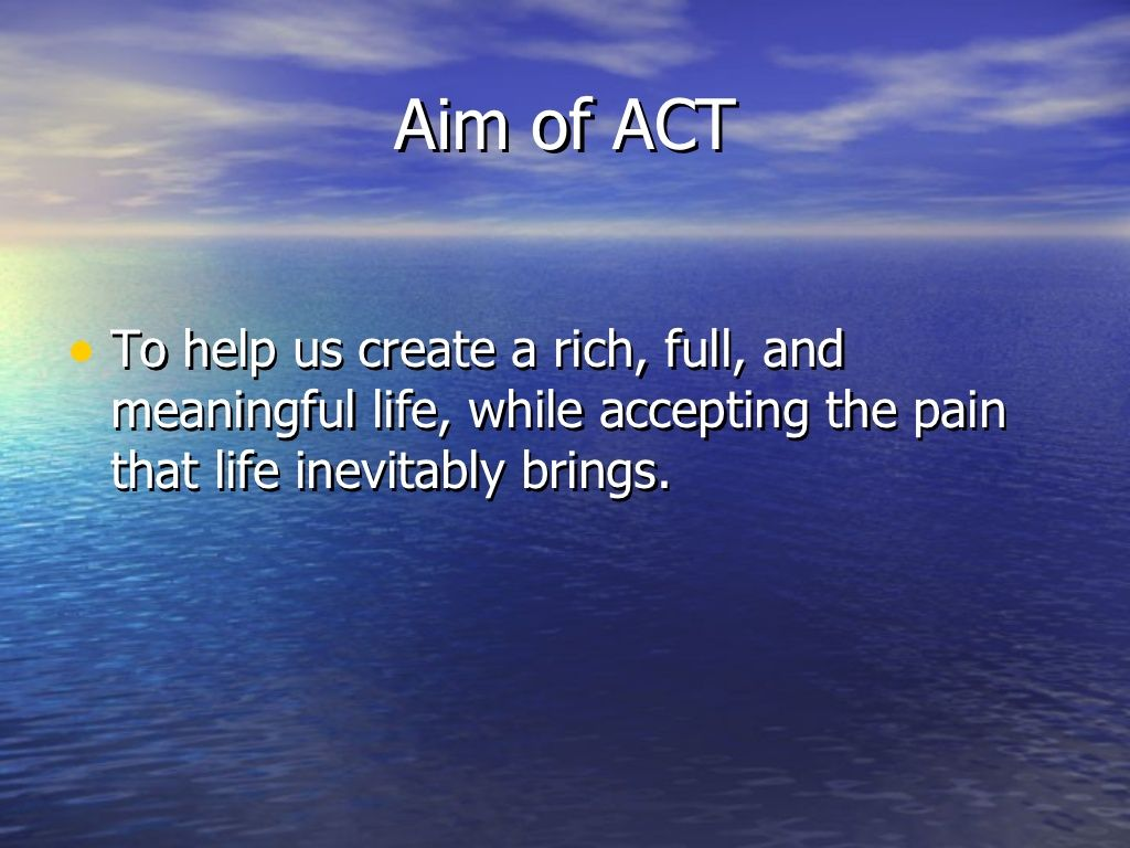 Aim Of Act