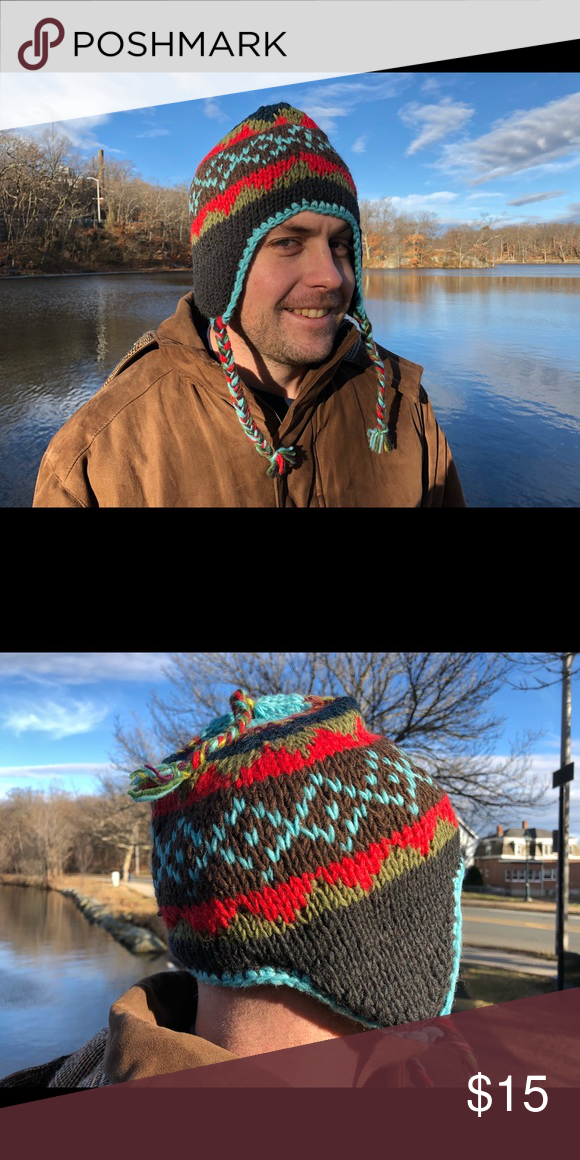 54aea061a99 winter hat snow hat woolen hat fleece lined Handmade Unisex Sherpa vintage Wool  Hat