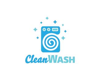 Clean Wash Logo design - Logo design of a washing machine. Price $299.00