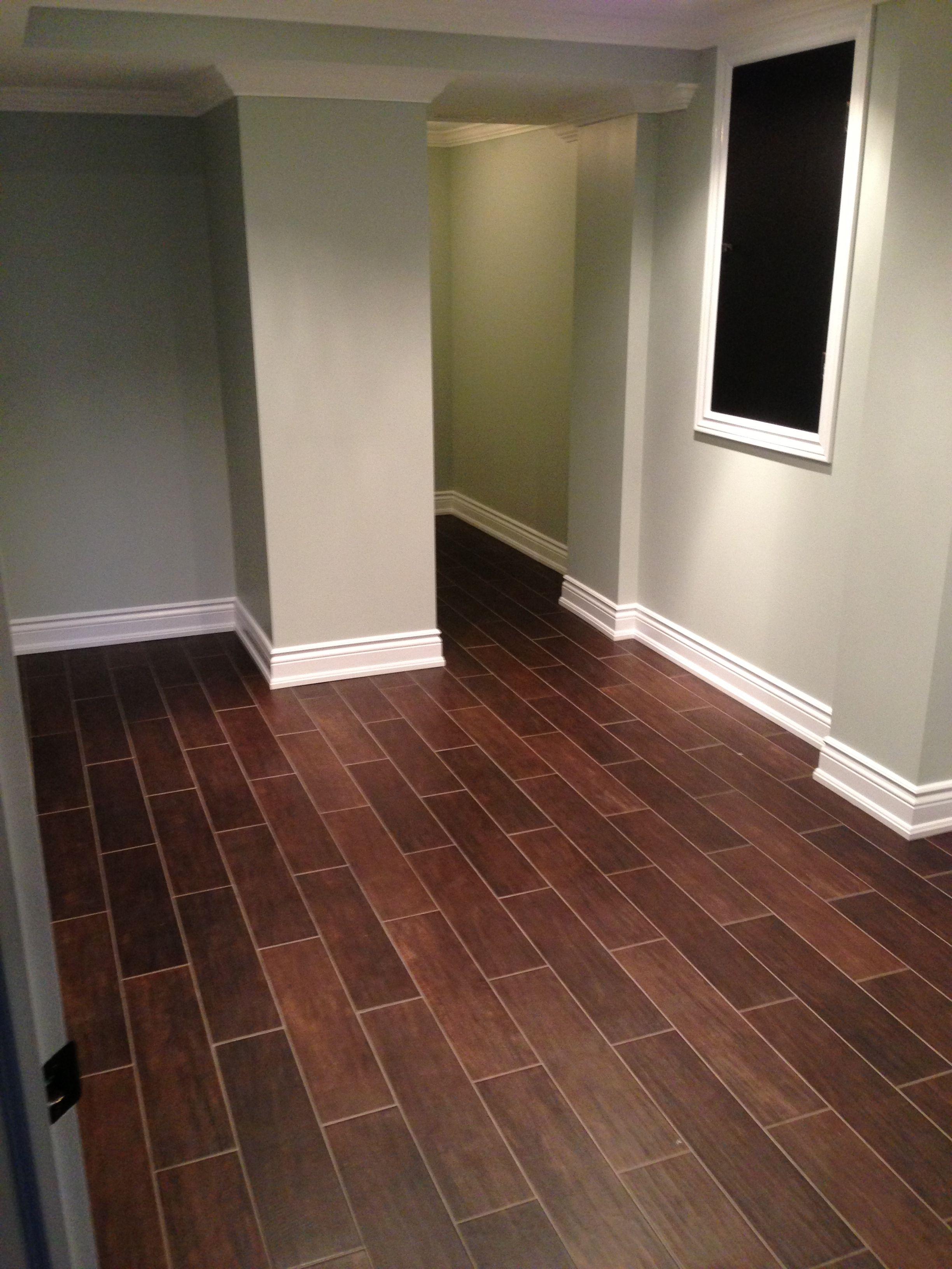 Hardwood Floor Alternative. Hardwood Styled Tile Dark Hardwood Tile Basement