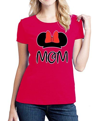 Hot Ass Tees Womens Fitted Mickey Mom Mothers Day Year Round T-shirt Red LARGE Hot Ass Tees