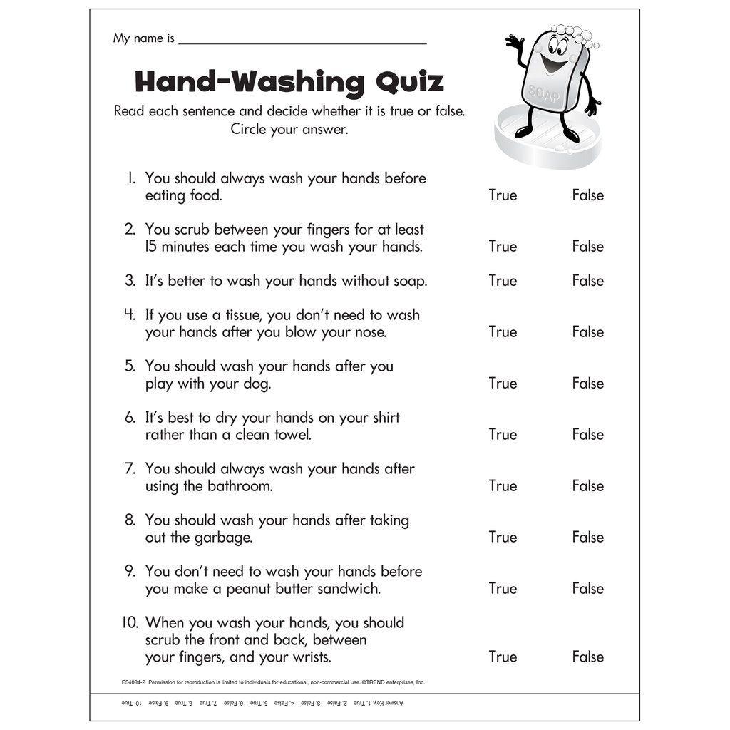 Hand Washing Quiz Free Printable Sequencing Worksheets Hand Hygiene Quiz [ 1024 x 1024 Pixel ]