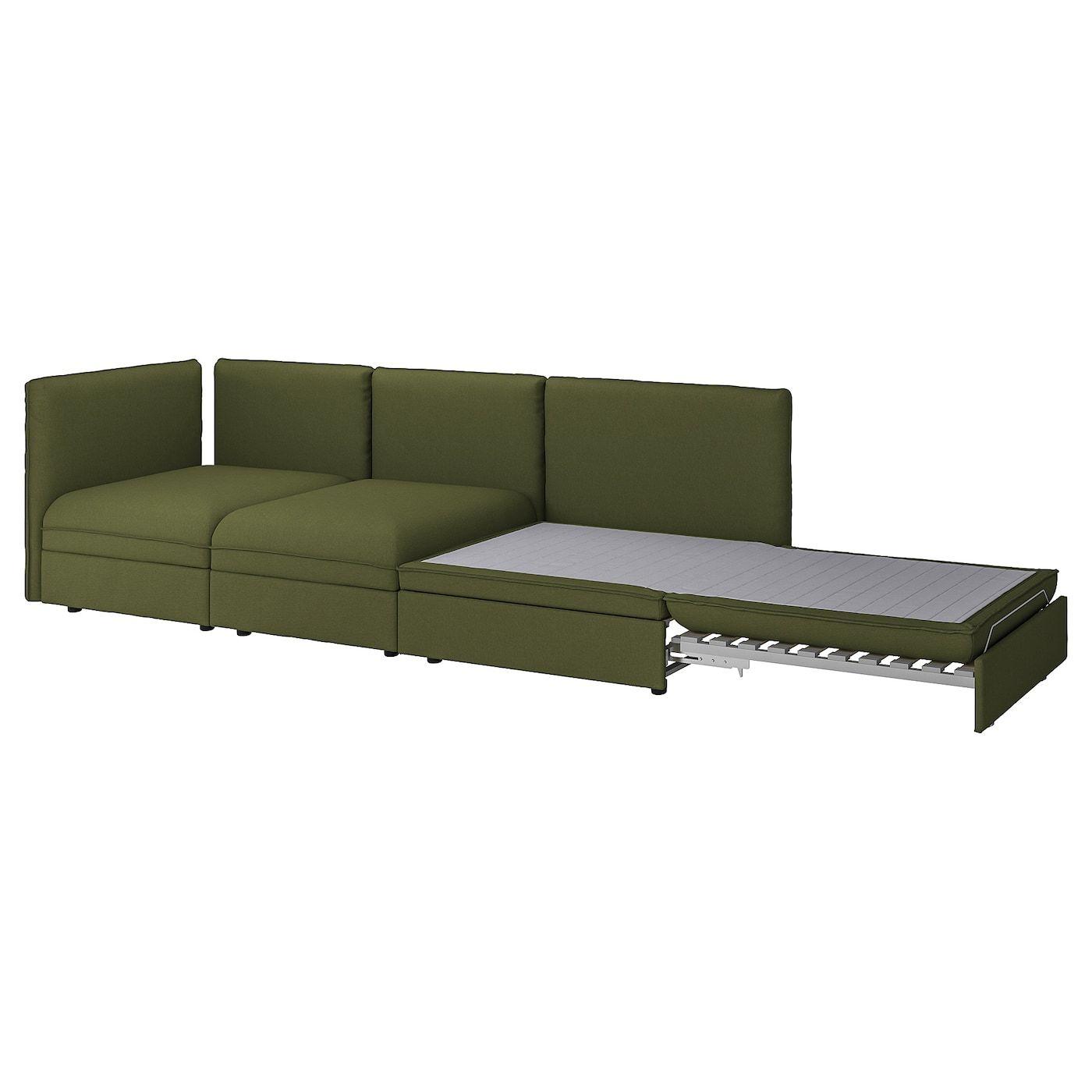 Vallentuna 3er Sitzelement Mit Bettsofa Ohne Abschluss Orrsta Sleeper Sofa Ikea Sectional Sofa Sofa