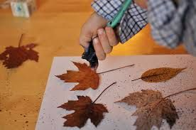 Image Result For Toothbrush Spray Painting For Kids Step By Step Instructions Leaf Prints Painting For Kids Firefly Art
