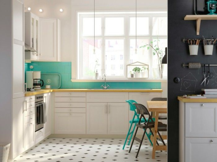 Superbe Ikea Kitchen Furniture Kitchen Green Tiles