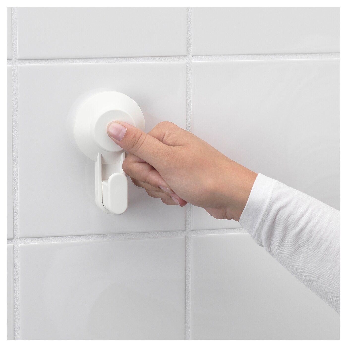 Tisken Toilettenpapierhalter Mit Saugnapf Weiss Zahnburstenhalter